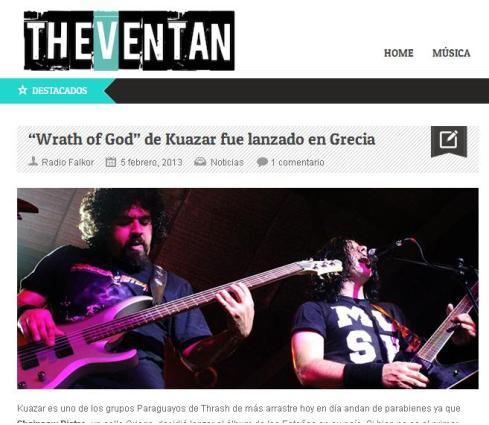 Publicación en The Ventan, 05/02/13