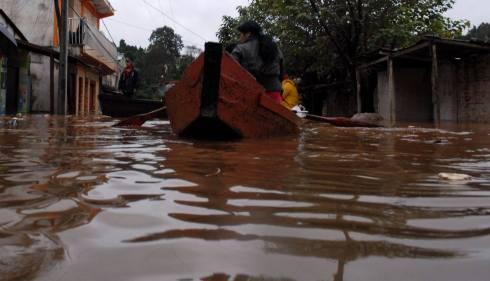 Foto de Wilson Ferreira - Inundaciones en el Barrio San Rafael de Ciudad del Este