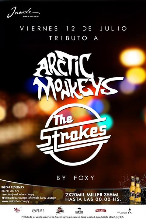 Tributo a Artics Monkeys en Inside con FOXY