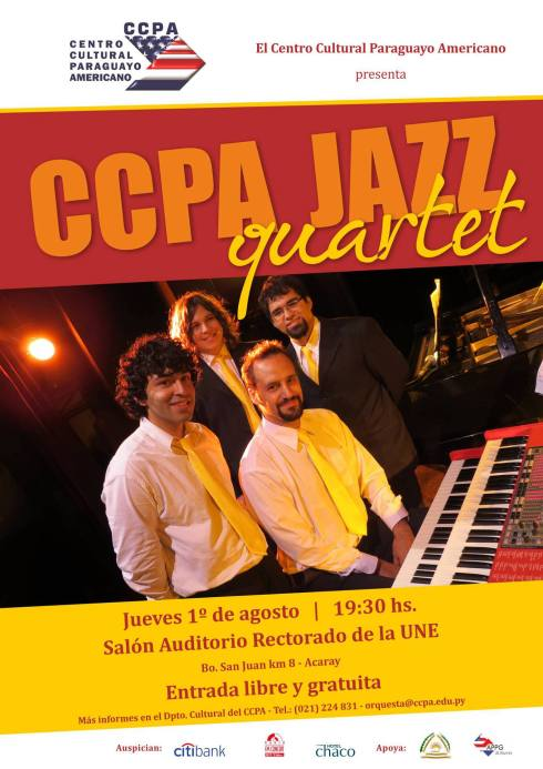 CCPA Jazz Quartet está compuesto por Germán Lema, Aharón Emery, Sebastián Ramírez y Rafael Arce.