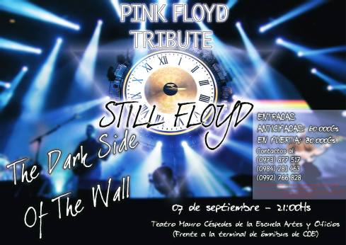 Página del Evento: https://www.facebook.com/StillFloyd