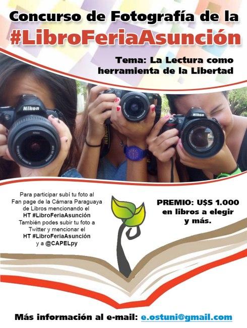 Para concursar sólo tenes que subir tu foto a la fan page de la Cámara Paraguaya de Libros mencionando el HT #LibroFeriaAsunción.