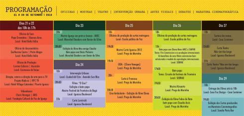 Extraido del fanpage oficial del Festival CURTA IGUASSU