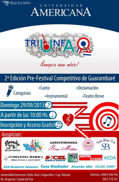 Festival TRIUNFA UA va por su 2ª edición