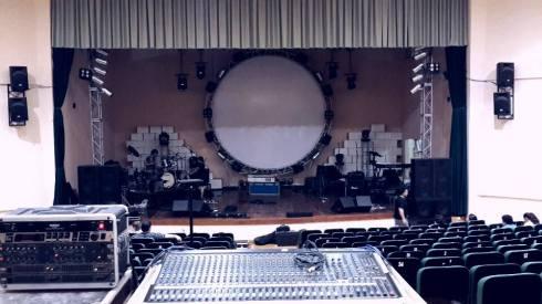 Escenario montado para está noche. Imagen del Fanpage de Still Floyd
