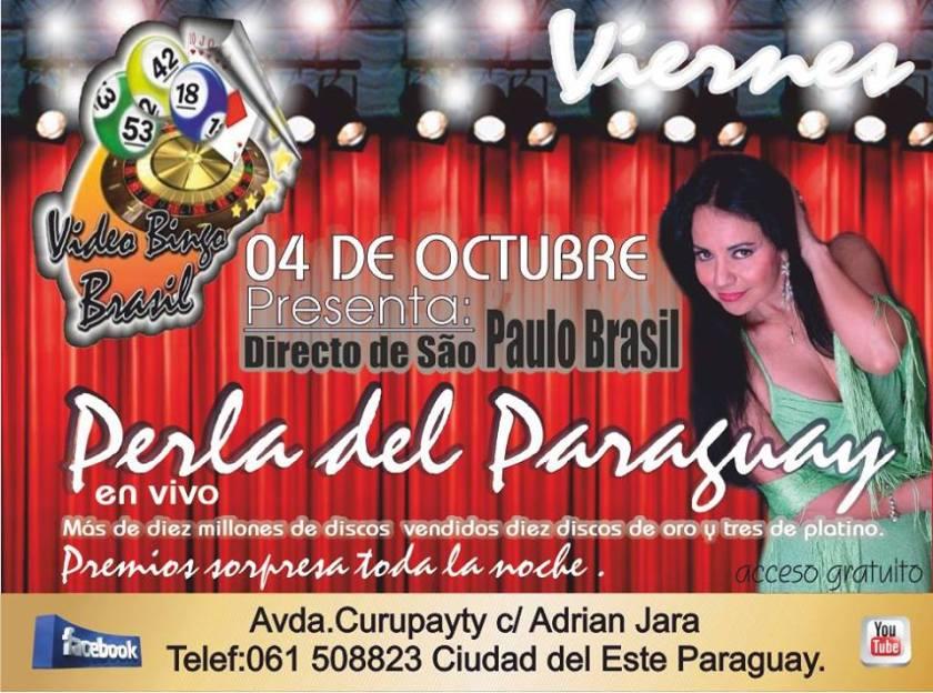 Perla del Paraguay se presenta hoy en Video Bingo Brasil