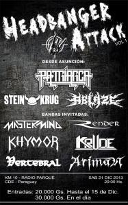 Headbanger Atack Vol 1 es este sábado en Radio Parque, km 10