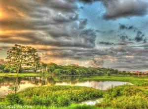 Lago de la República, Ciudad del Este. Foto: Noelia E. López Barrios