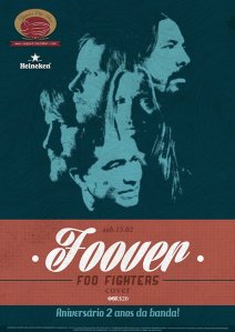 Foover es una cover band de Foo Fighters y celebra 2 años en escena