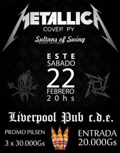 Hace la previa para el concierto del año, tributo a Metallica en Liverpool Pub, hay promo de Pilsen