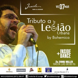 Bohemica rinde tributo a Legiao Urbana en Inside
