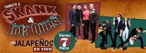 Los Jalapeños tocarán los grandes hits de Jota Quest y Skank.