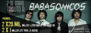 Tributo a Babasónicos en INSIDE BAR, Área 3