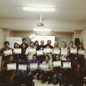 Participantes del Taller de Guión de cine realizado el 31 de enero